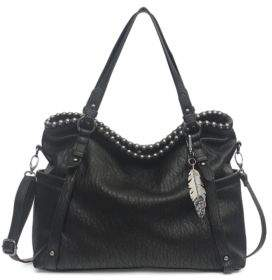 Jessica Simpson Textured Faux Leather Satchel