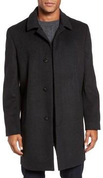 Hart Schaffner Marx Men's Turner Plaid Wool Blend Topcoat