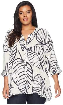 Nic+Zoe Plus Size Etched Leaves Top Women's Clothing