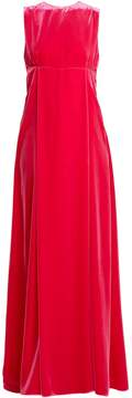 Valentino Cut-out sleeveless velvet gown