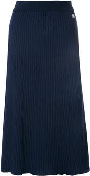 Courreges ribbed flared skirt