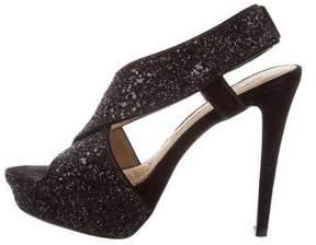 Diane von Furstenberg Glitter Platform Sandals