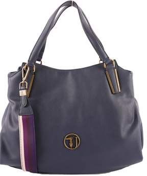 Trussardi Faux Leather Rabarbaro Top Handle Bag