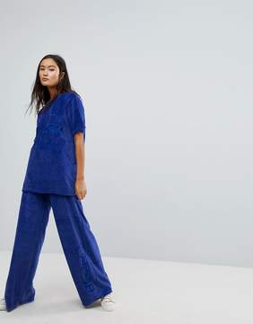 Ellesse Oversized T-Shirt Co-Ord In Velour