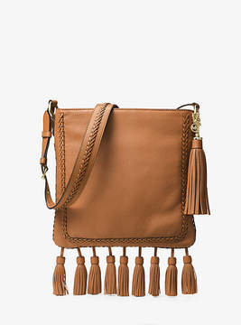 Michael Kors Moroccan Large Leather Messenger - BROWN - STYLE