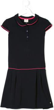 Armani Junior Teen contrast-piped dress