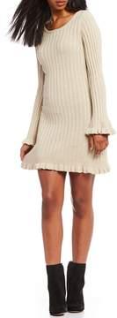 Chelsea & Violet Ruffle Hem Sweater Dress