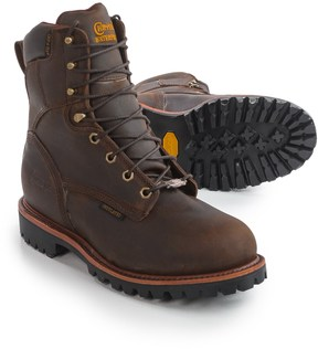 "Chippewa Bay Crazy Horse Leather Work Boots - Steel Safety Toe, Waterproof, Insulated, 8"" (For Men)"