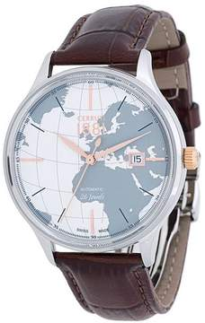 Cerruti world map dial watch