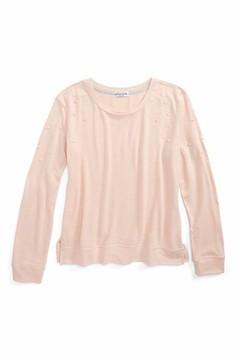 Ten Sixty Sherman Girl's Imitation Pearl Embellished Sweatshirt