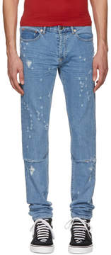 Givenchy Blue All Over Destroyed Rico Jeans