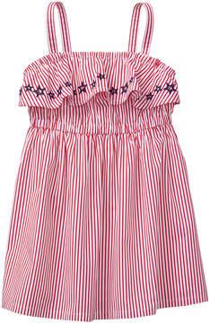 Gymboree True Red Stripe Ruffle Dress - Infant, Toddler & Girls