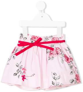 Simonetta floral flared skirt
