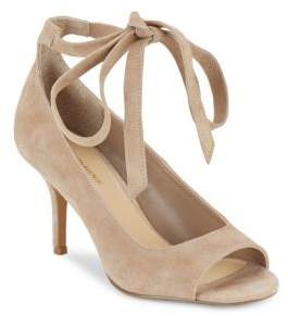 Saks Fifth Avenue Clara Leather Ankle Strap Sandals