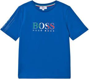 BOSS Blue Italy Branded Football T-Shirt
