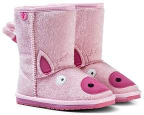 Emu Pale Pink Piggy Boots with Merino Lining
