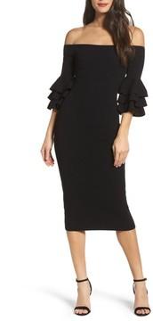 Adelyn Rae Women's Off The Shoulder Midi Sweater Dress