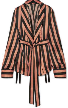 Ann Demeulemeester Striped Silk-satin Jacket - Black
