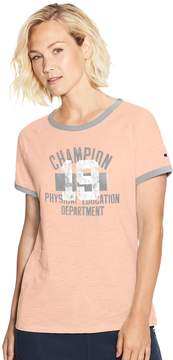 Champion Women's Heritage Raglan Ringer Graphic Tee
