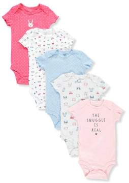 Carter's Baby Girls' 5-Pack Bodysuits - pink/multi, 24 months