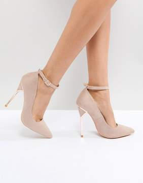 Taupe Hero Heel Court Shoes