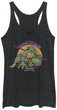 Fifth Sun TMNT Black Heather 'Donatello' Racerback Tank - Juniors