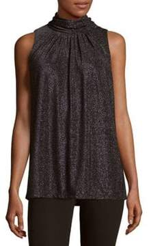 Context Pleated Mockneck Top