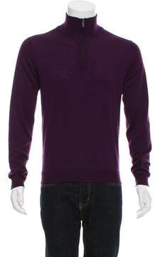 Calvin Klein Collection Wool Half-Zip Sweater