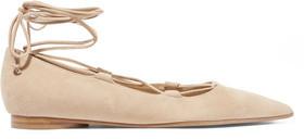 Michael Kors Collection Kallie Suede Point-Toe Flats