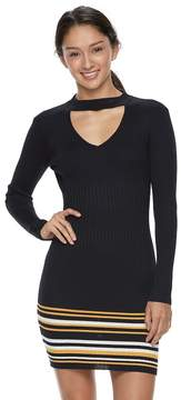 Almost Famous Juniors' Cut-Out Ribbed Sweater Dress