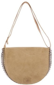 Paco Rabanne Chain-Mail Suede Flap Bag