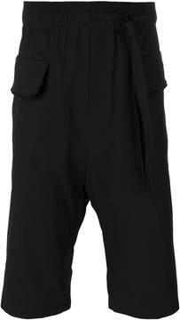 Damir Doma raw hem drop crotch shorts