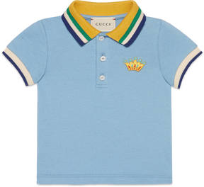 Gucci Baby cotton polo with crown