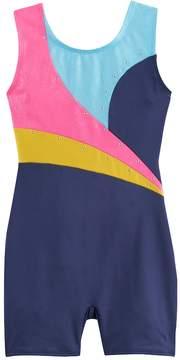 Jacques Moret Girls 4-14 Embellished Colorblock Biketard