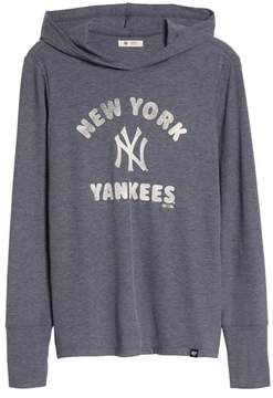 '47 Campbell New York Yankees Rib Knit Hooded Top