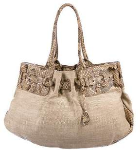 Tod's Python-Trimmed Tote