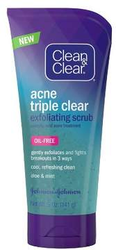Clean & Clear®Acne Triple Clear Exfoliating Scrub - 5oz