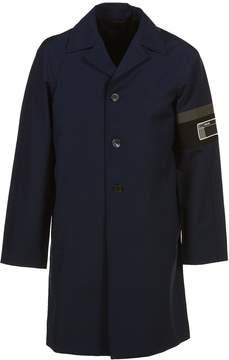 Prada Linea Rossa Prada Logo On Sleeve Coat