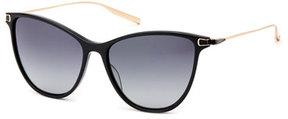Salt Nia Acetate & Titanium Round Sunglasses, Black