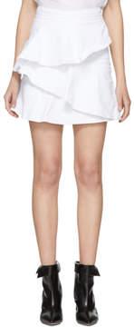 Etoile Isabel Marant White Denim Coati Miniskirt