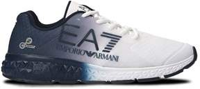 Emporio Armani Men's White/blue Polyamide Sneakers.