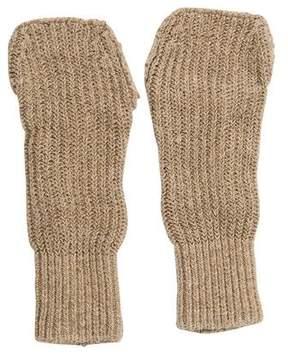 Balenciaga Rib Knit Fingerless Gloves