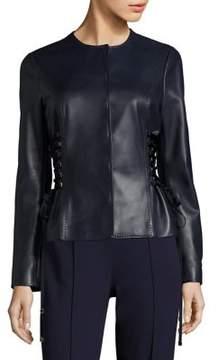 Escada Lace-Up Leather Jacket