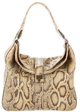 Lambertson Truex Snakeskin Shoulder Bag