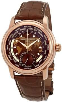 Frederique Constant Classic Manufacture Worldtimer World Time Automatic Men's Watch