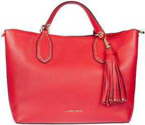Michael Kors Brooklyn Large Leather Tote - BRIGHT RED - STYLE