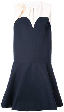 DELPOZO contrast flared tailored dress