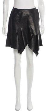Alaia Leather Wrap Skirt