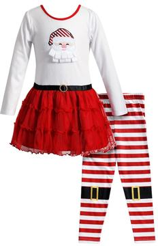 Youngland Girls 4-6X 2-pc. Santa Dress & Legging Set