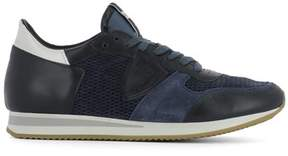 Philippe Model Men's Blue Leather Sneakers.